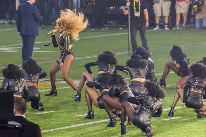 Bey at this year's Super Bowl. Photo by Arnie Papp. By Arnie Papp - https://www.flickr.com/photos/apapp/24922759281/, CC BY 2.0, https://commons.wikimedia.org/w/index.php?curid=46989304